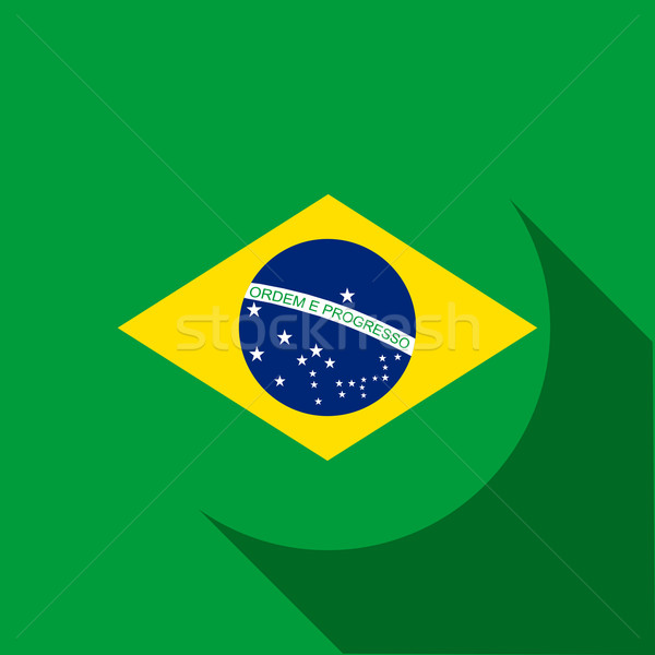 Brazilië 2014 brieven vlag vector sport Stockfoto © gubh83