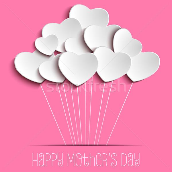Heureux mère jour coeur vecteur papier Photo stock © gubh83