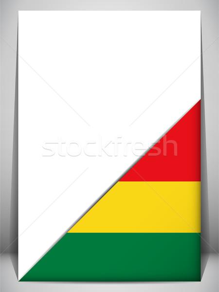 Bolívia vidék zászló oldal felirat utazás Stock fotó © gubh83