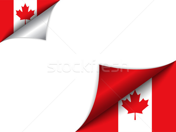 Zdjęcia stock: Kanada · kraju · banderą · strona · wektora · podpisania