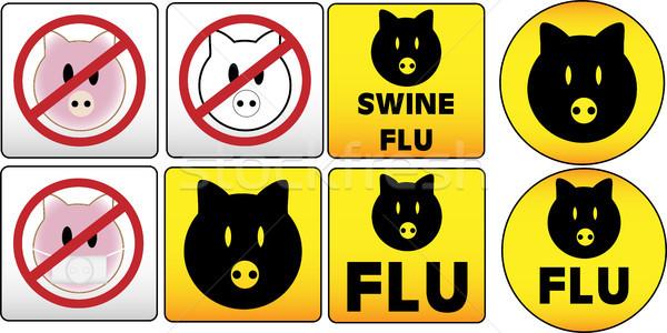 Sertés influenza felirat forgalom veszélyes egészség Stock fotó © gubh83
