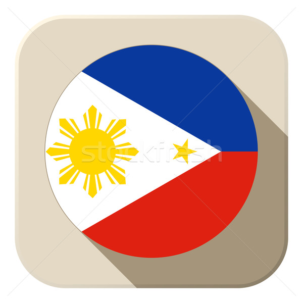フィリピン フラグ ボタン アイコン 現代 ベクトル ストックフォト © gubh83