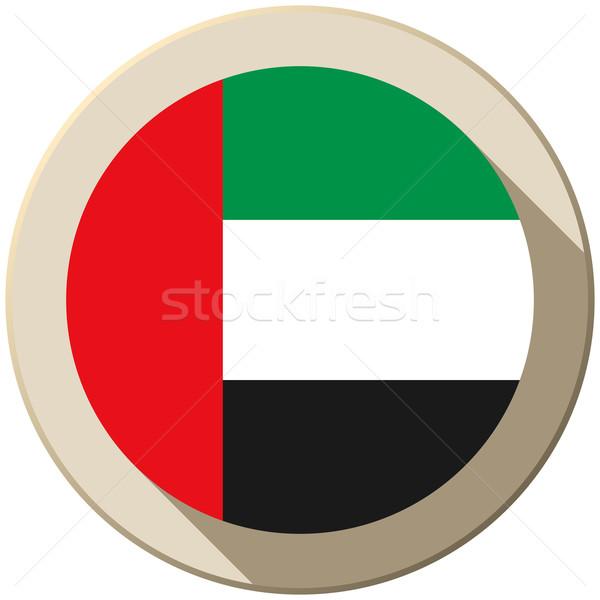 Emirados Árabes Unidos bandeira botão ícone moderno vetor Foto stock © gubh83