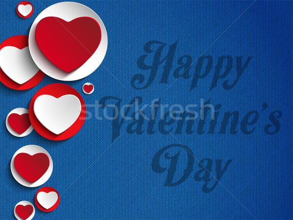 Valentijnsdag hart jeans vector textuur gelukkig Stockfoto © gubh83