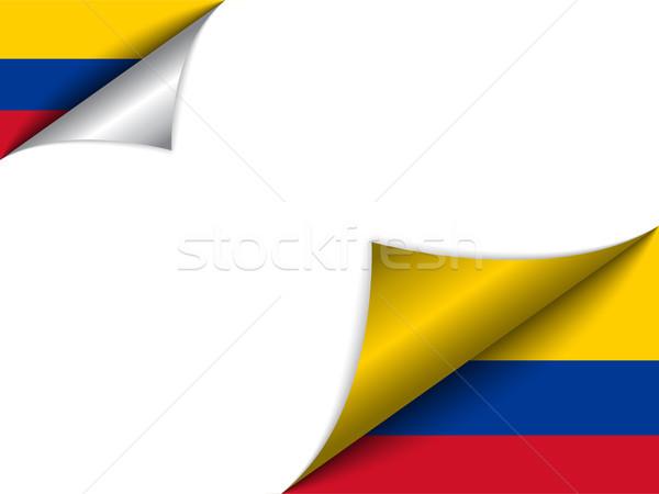 Kolombiya ülke bayrak sayfa vektör imzalamak Stok fotoğraf © gubh83