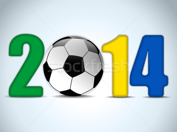 Brazil 2014 Soccer with Brazilian Flag Stock photo © gubh83