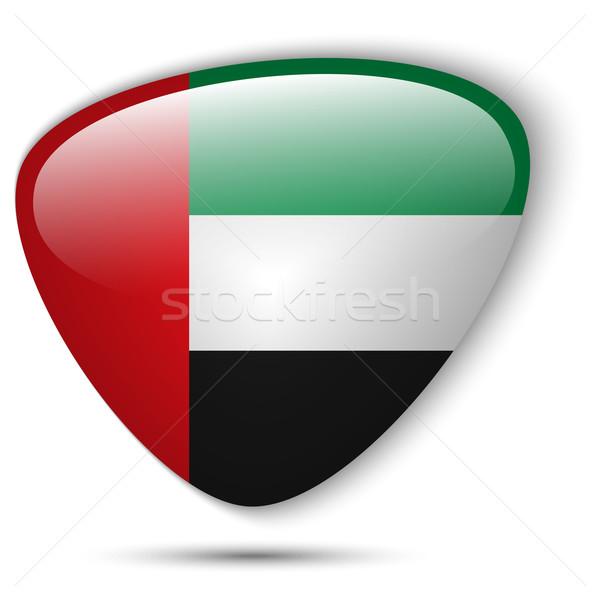 Banderą przycisk wektora szkła kolor Zdjęcia stock © gubh83