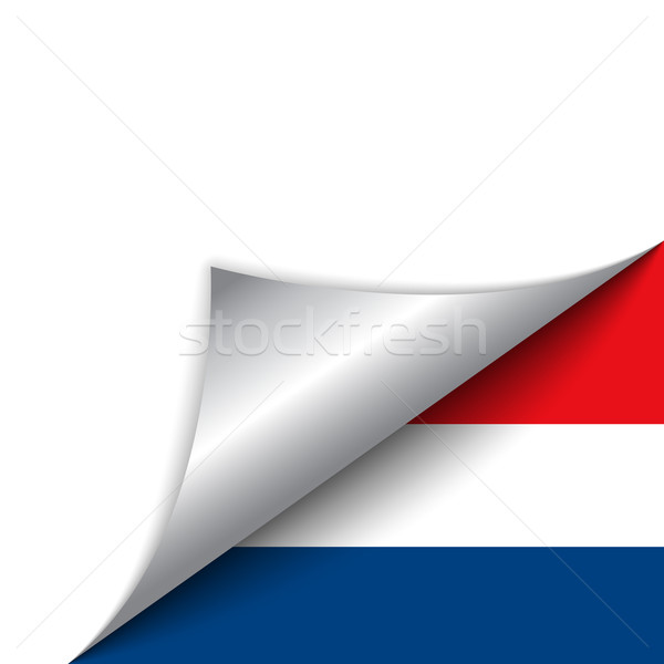 Нидерланды стране флаг страница вектора знак Сток-фото © gubh83