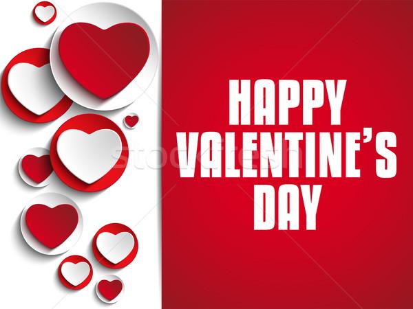 Valentijn dag liefde hart vector papier Stockfoto © gubh83
