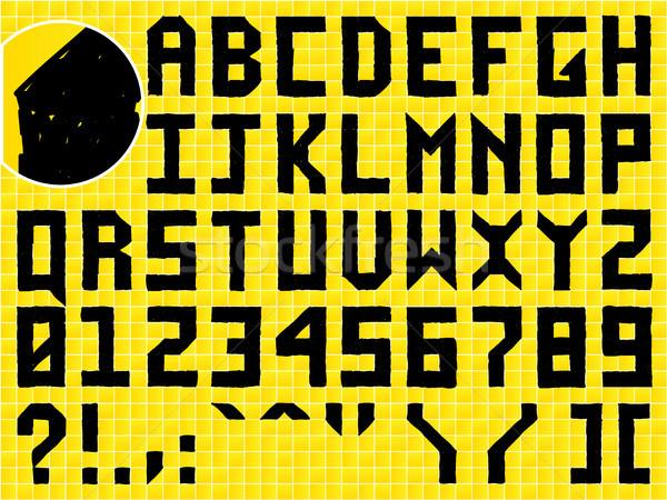 Gryzmolić strony alfabet taflowy szkoły tle Zdjęcia stock © gubh83