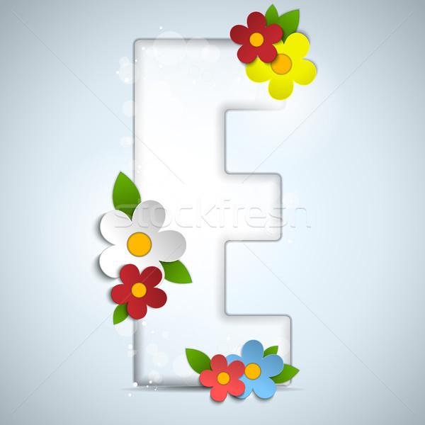 Alphabet Glass Spring with Flowers Stock photo © gubh83