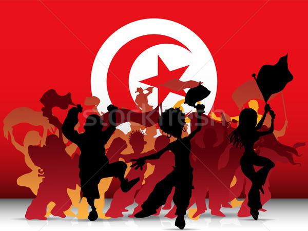Türkiye spor fan kalabalık bayrak vektör Stok fotoğraf © gubh83