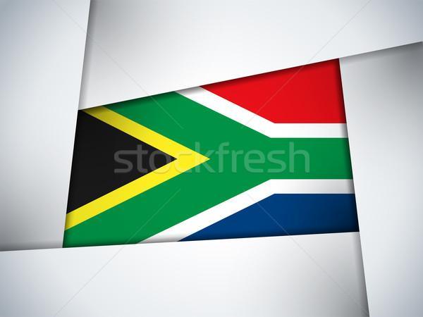 South Africa land vlag meetkundig vector business Stockfoto © gubh83