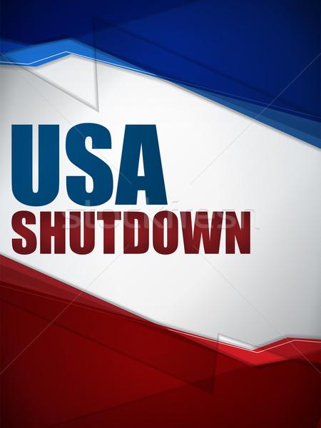 Shutdown Closed United States of America Background Stock photo © gubh83
