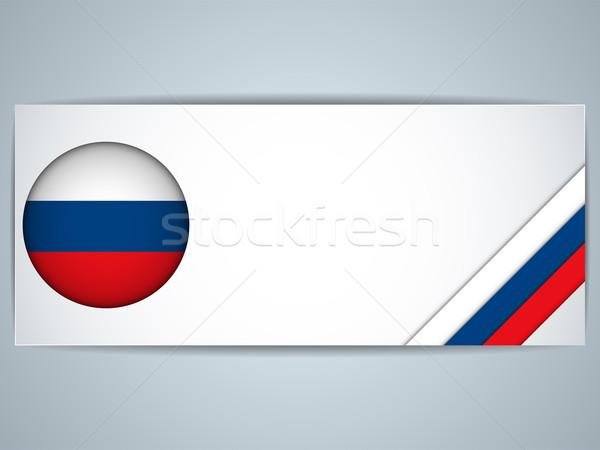 Rusya ülke ayarlamak afişler vektör iş Stok fotoğraf © gubh83