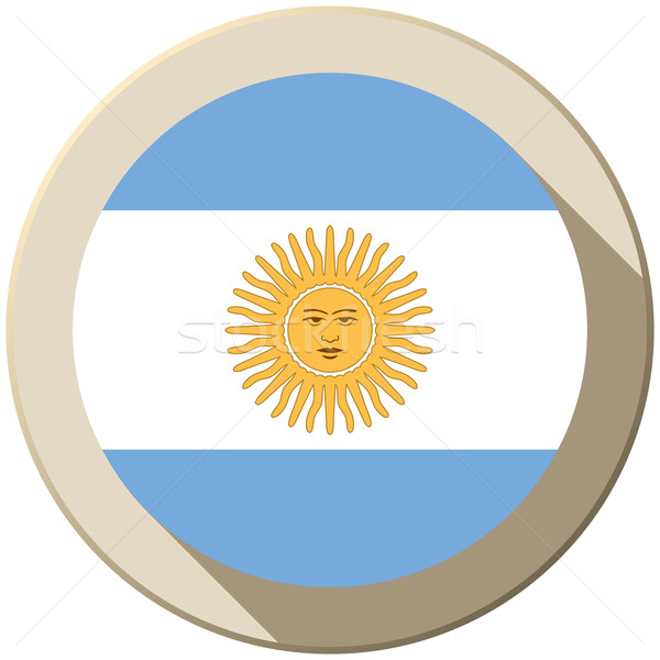 Argentina Flag Button Icon Modern Stock photo © gubh83