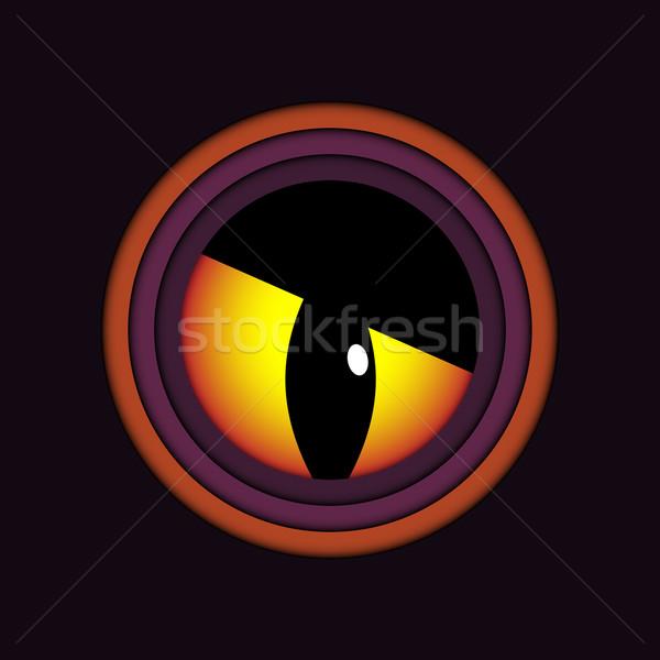 Happy Halloween Ghost Evil Eye Icon Background Stock photo © gubh83