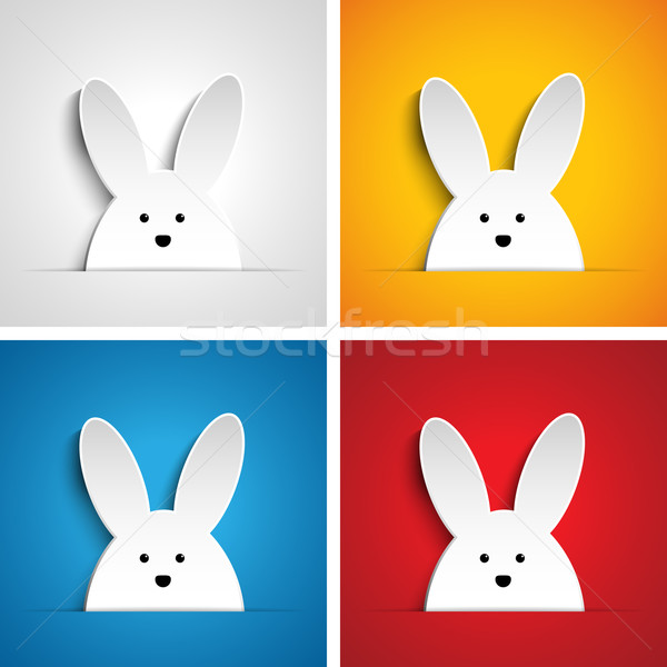 Joyeuses pâques lapin lapin cartoon vecteur Photo stock © gubh83