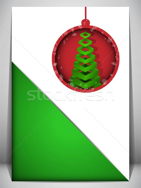 Neşeli kırmızı yeşil zarf vektör Stok fotoğraf © gubh83