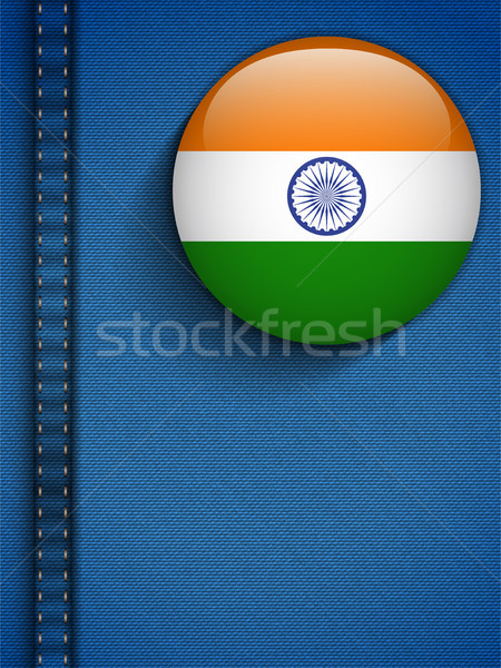 India Flag Button in Jeans Pocket Stock photo © gubh83