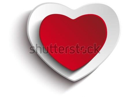 Walentynki dzień serca biały wektora ślub Zdjęcia stock © gubh83