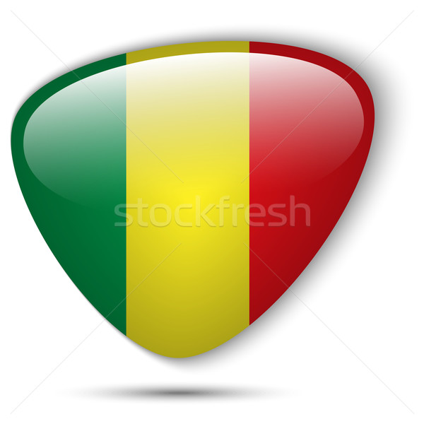Mali Flag Glossy Button Stock photo © gubh83