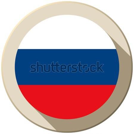 Сток-фото: Россия · флаг · кнопки · икона · современных · вектора