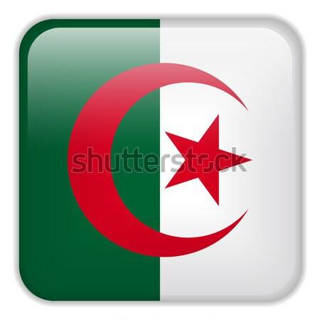 Stock fotó: Algéria · zászló · okostelefon · alkalmazás · tér · gombok