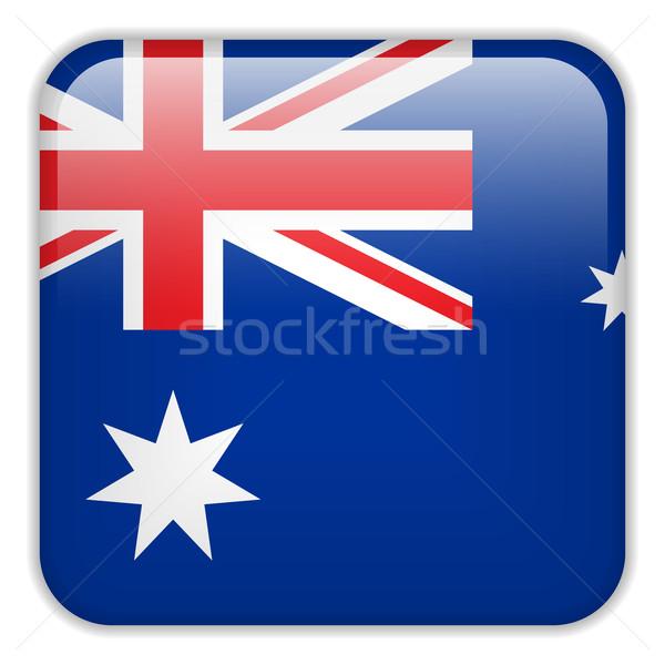 Austrália bandeira aplicação praça botões Foto stock © gubh83