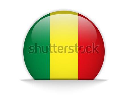 Мали флаг кнопки вектора стекла Сток-фото © gubh83