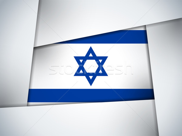 Israël land vlag meetkundig vector business Stockfoto © gubh83