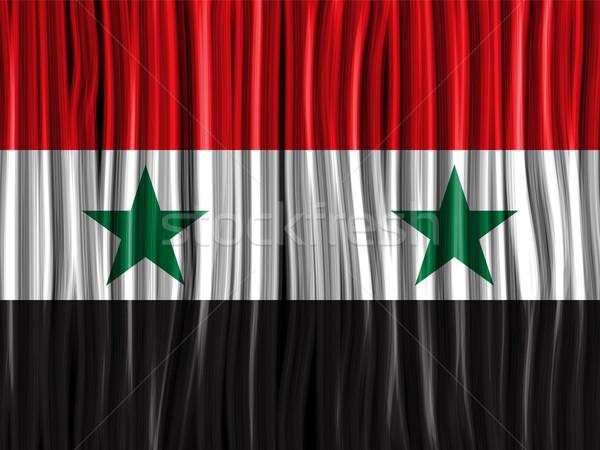 Síria bandeira onda tecido textura vetor Foto stock © gubh83