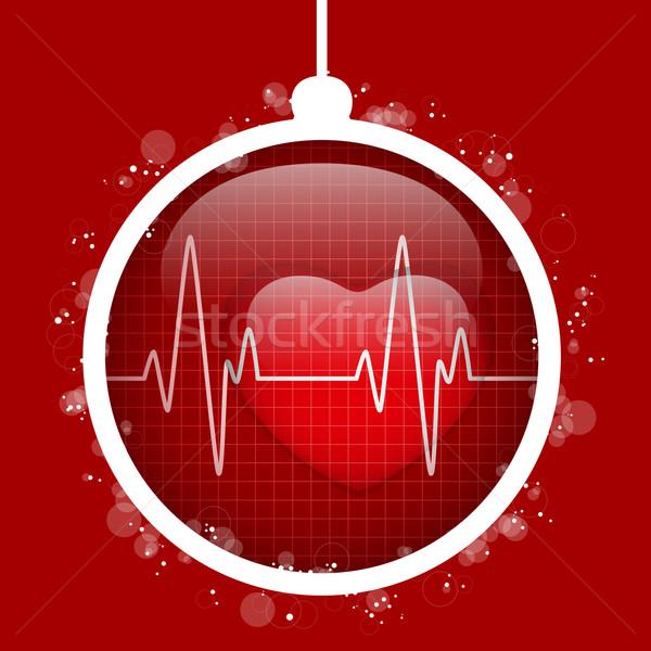 Wesoły christmas lekarza szpitala serca piłka Zdjęcia stock © gubh83