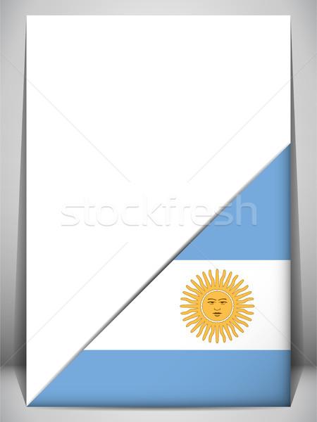 Argentine pays pavillon page signe Voyage Photo stock © gubh83