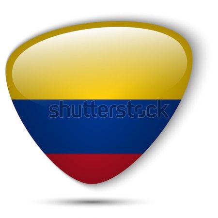 Колумбия флаг кнопки вектора стекла Сток-фото © gubh83