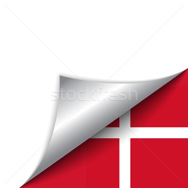 Dinamarca país bandeira página vetor assinar Foto stock © gubh83