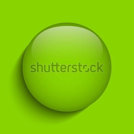 緑 ガラス サークル ボタン アイコン ベクトル ストックフォト © gubh83