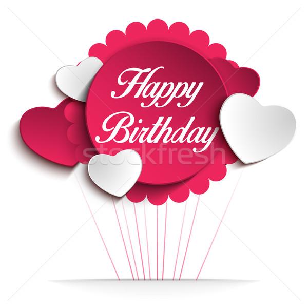 Feliz aniversário colorido cartão vetor flor amor Foto stock © gubh83