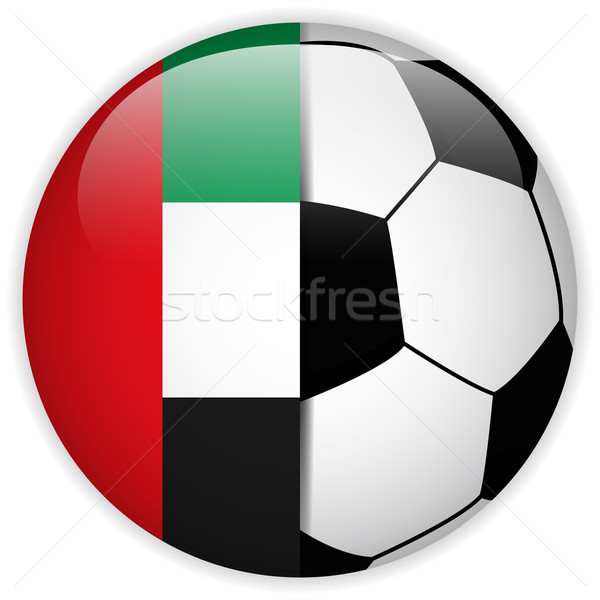 Emirates Flag with Soccer Ball Background Stock photo © gubh83