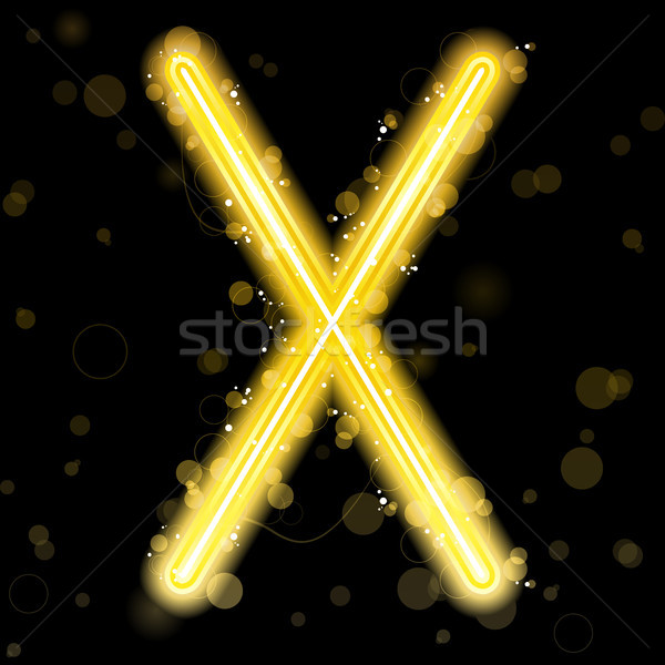 Alphabet Golden Letters with Glitter and Sparkles Stock photo © gubh83