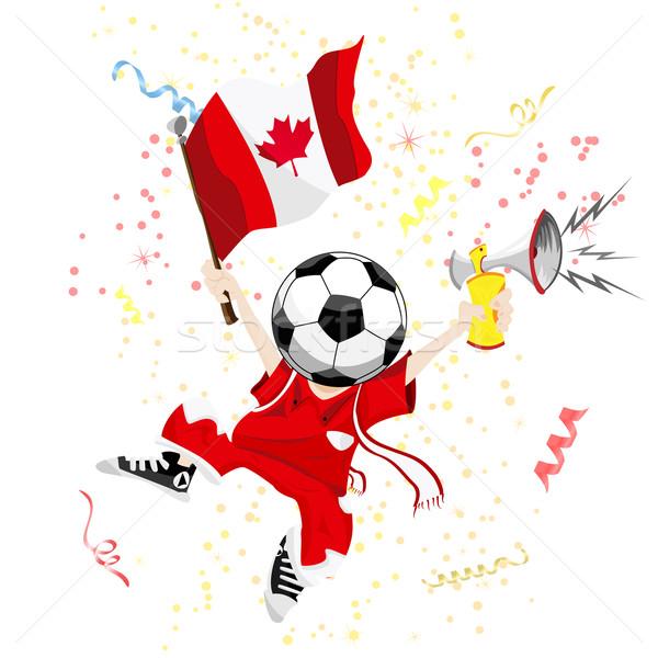Нарисованный футбольный болельщик