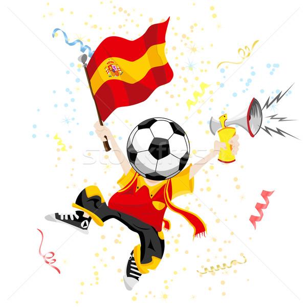 Hiszpania piłka nożna fan piłka głowie Zdjęcia stock © gubh83