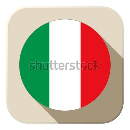 Italië vlag knop icon moderne vector Stockfoto © gubh83