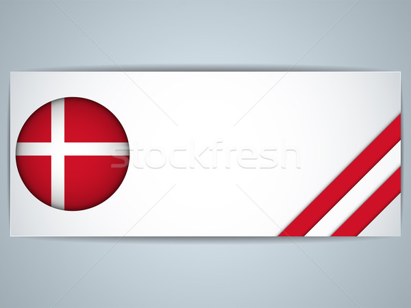 Dánia vidék szett bannerek vektor üzlet Stock fotó © gubh83