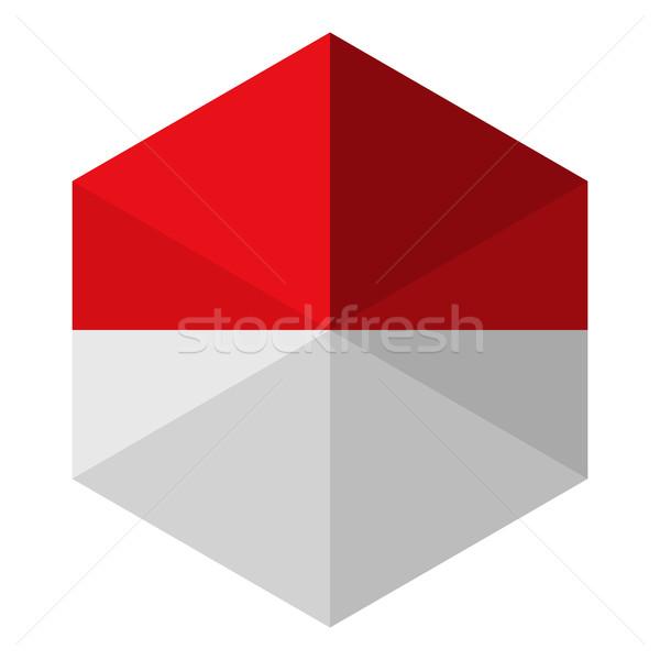 Monaco vlag zeshoek icon knop wereld Stockfoto © gubh83