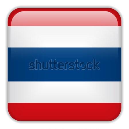 Tailandia bandera aplicación cuadrados botones Foto stock © gubh83