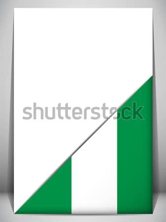 Nigéria país bandeira página assinar viajar Foto stock © gubh83