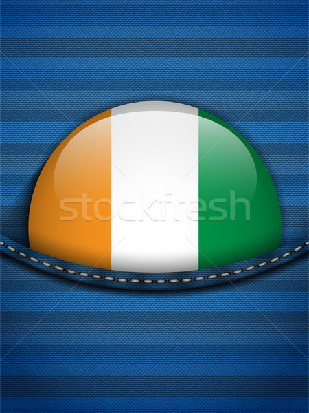 Ireland Flag Button in Jeans Pocket Stock photo © gubh83