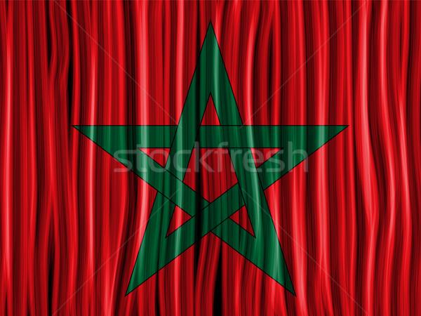 Marrocos bandeira onda tecido textura vetor Foto stock © gubh83