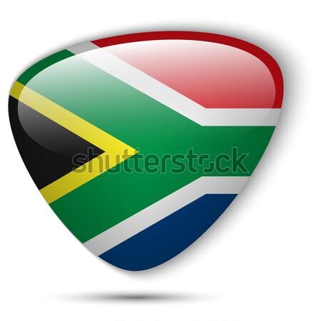南アフリカ フラグ ボタン ベクトル ガラス ストックフォト © gubh83